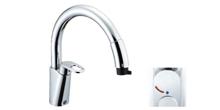 リクシル/イナックス ハンドシャワー付シングルレバー混合水栓 グースネック