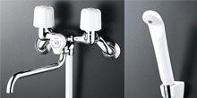 KVK製 ツーハンドルシャワーバス水栓