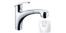 リクシル/イナックス ハンドシャワー付シングルレバー混合水栓 アウゼシリーズ