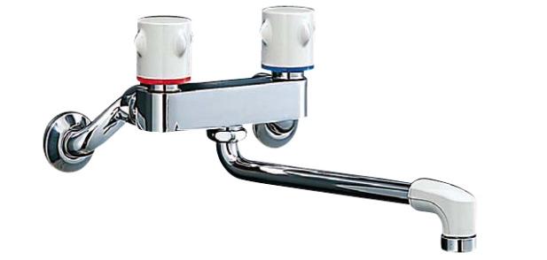 リクシル/イナックス 2ハンドル混合水栓 壁付タイプ ミーティスシリーズ