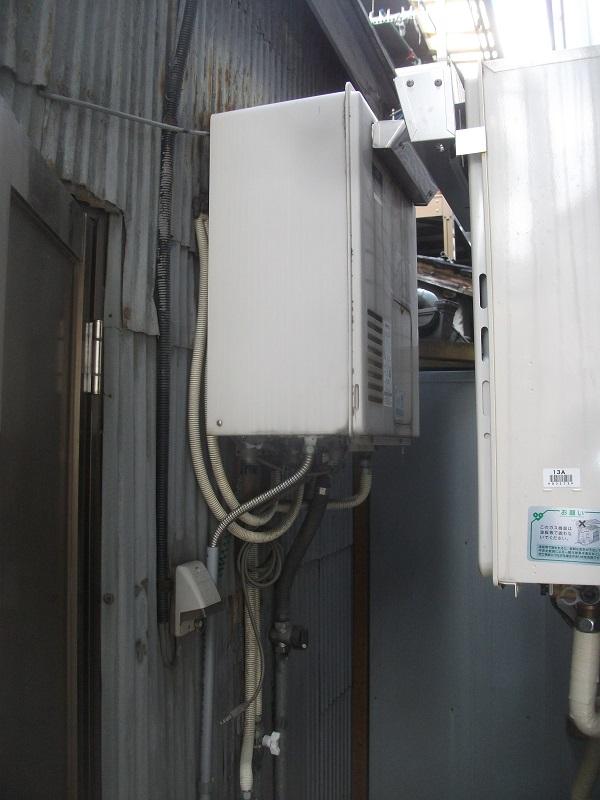 ノーリツ製省エネガス給湯器『エコジョーズ』に交換(大阪府大阪市)
