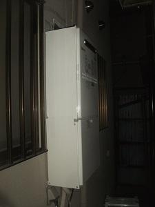 暖房機能付きエコジョーズ給湯器 取替工事 枚方市