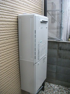 暖房機機能付きエコジョーズ給湯器取替 京都府西京区