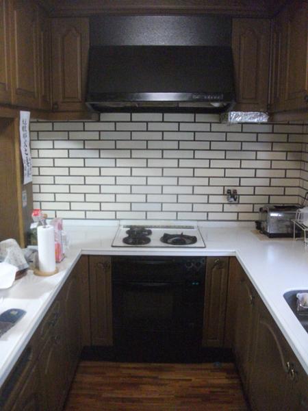 ガスコンロ&オーブン、レンジフードの取替工事