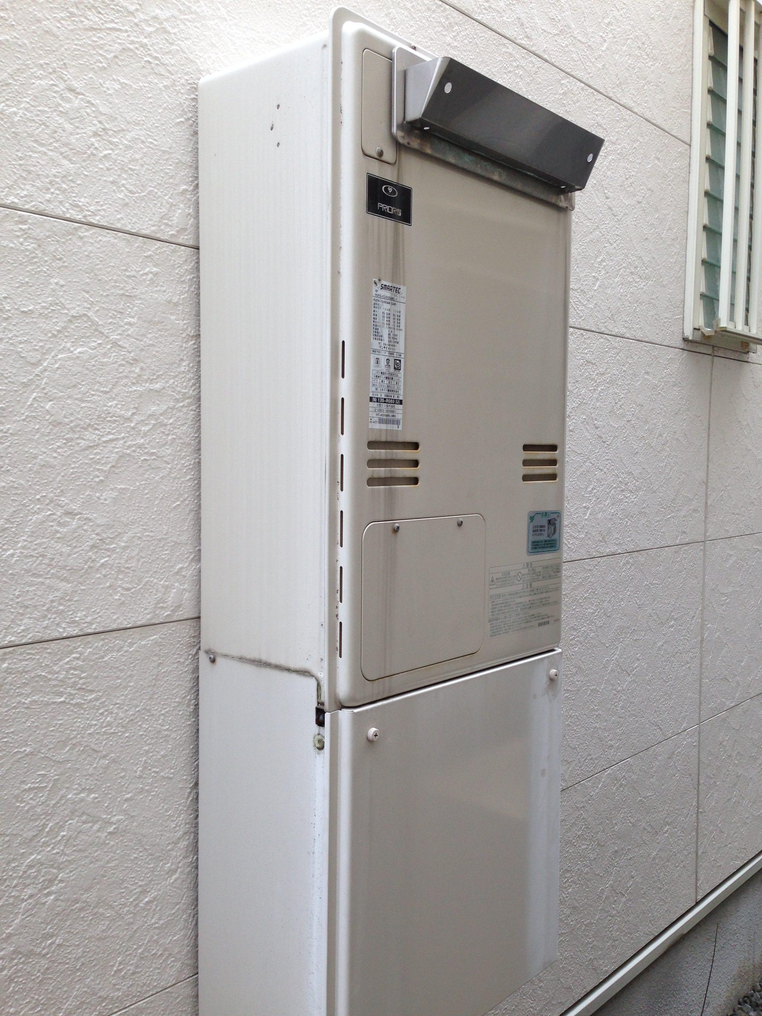 ノーリツ エコジョーズ 暖房機能付給湯器交換 大阪府茨木市 M様邸