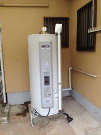 三菱電気温水器取替工事 給湯専用丸型 四條畷市 K様邸